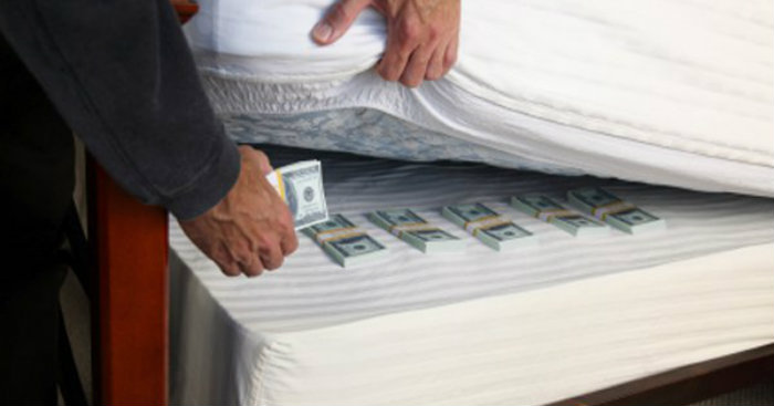 billionaire who keeps money under the mattress business today news. Black Bedroom Furniture Sets. Home Design Ideas