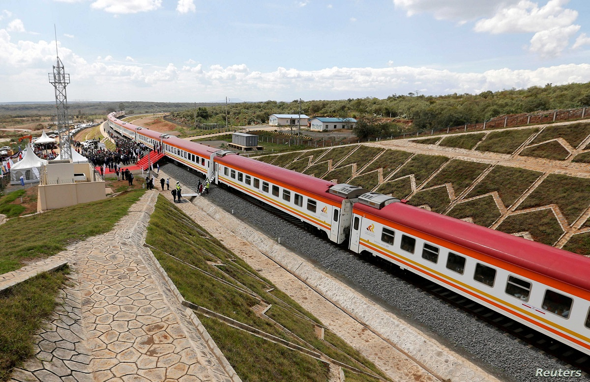 A section of the SGR in Kenya. Billions of shillings were gained irregularly by corrupt politicians and CSs in several scandals in the country.
