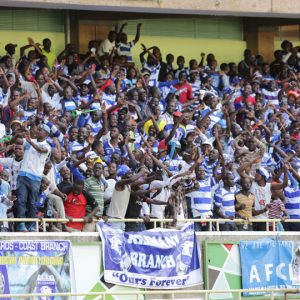 AFC Leopards fans at a match between Ingwe and K'ogalo. Photo/ File- Business Today