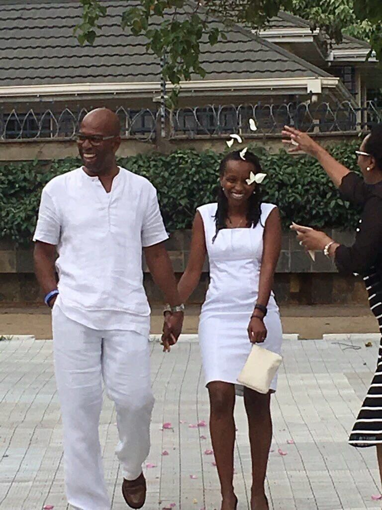 Mr and Mrs Bob Collymore are all smiles.