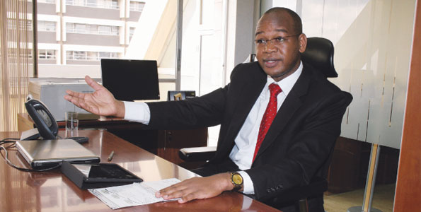 KCB Group CEO, Joshua Oigara during a past interview. He has backed the credit guarantee scheme to support SMEs in 2021.
