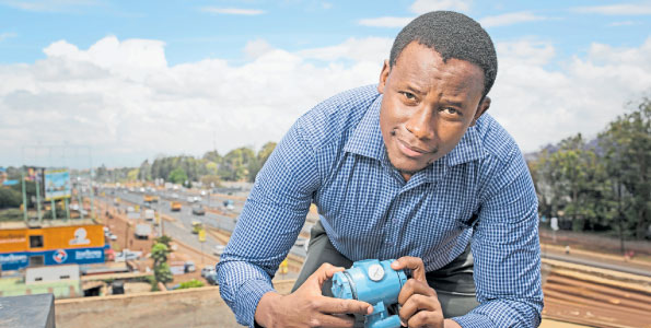 Kelvin-Gacheru-Mobi-water Young Kenyan engineer goes for top Africa prize in innovation