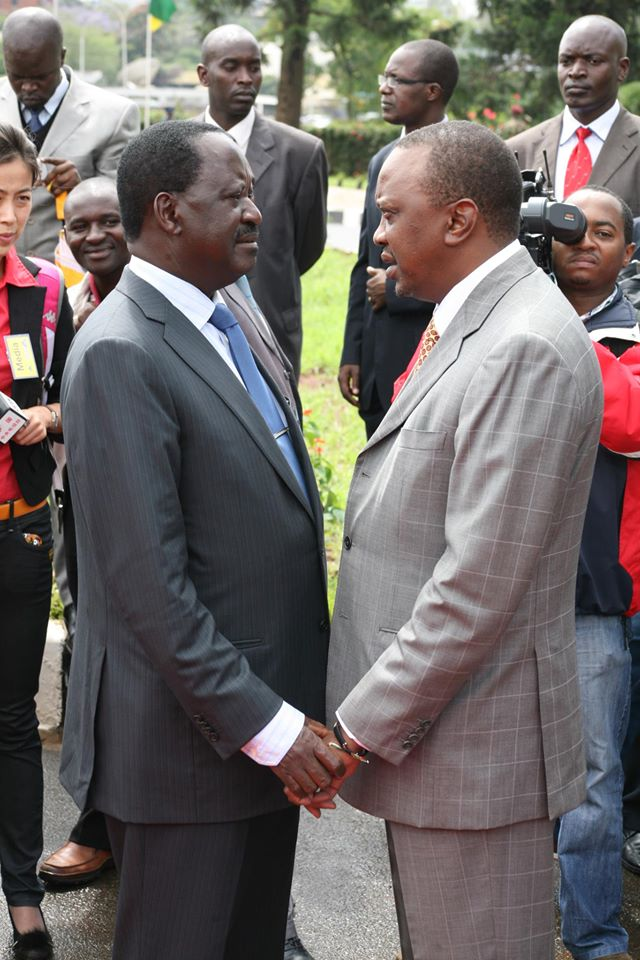 Raila-with-uhuru-1 State House winner faces mixed economic bag