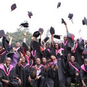 Students celebrate during a graduation ceremony www.businesstoday.co.ke
