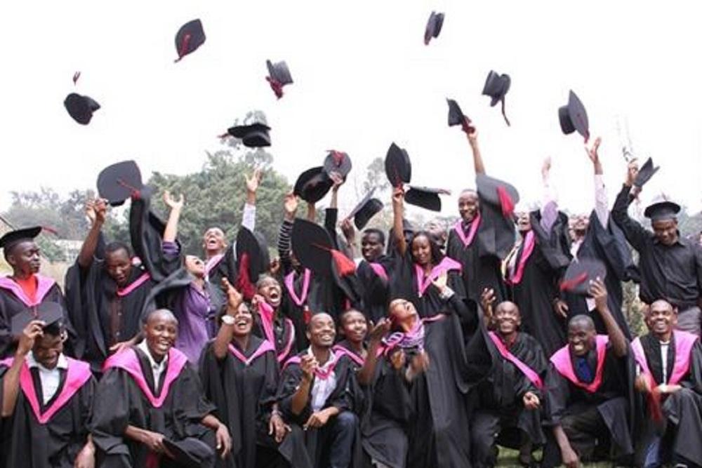 Students celebrate during a graduation ceremony www.businesstoday.co.ke
