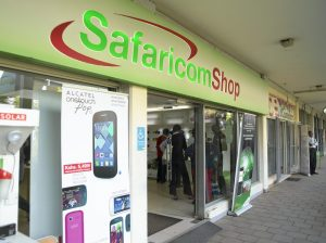 A Safaricom retail shop. Safaricom has joined the push to scale up private sector investment for sustainable development. www.businesstoday.co.ke