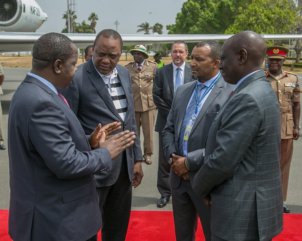 President-Uhuru-Kenyatta-with-Interior-CS-Fred-Matiangi Fred Matiang'i: Second most powerful man after President Uhuru