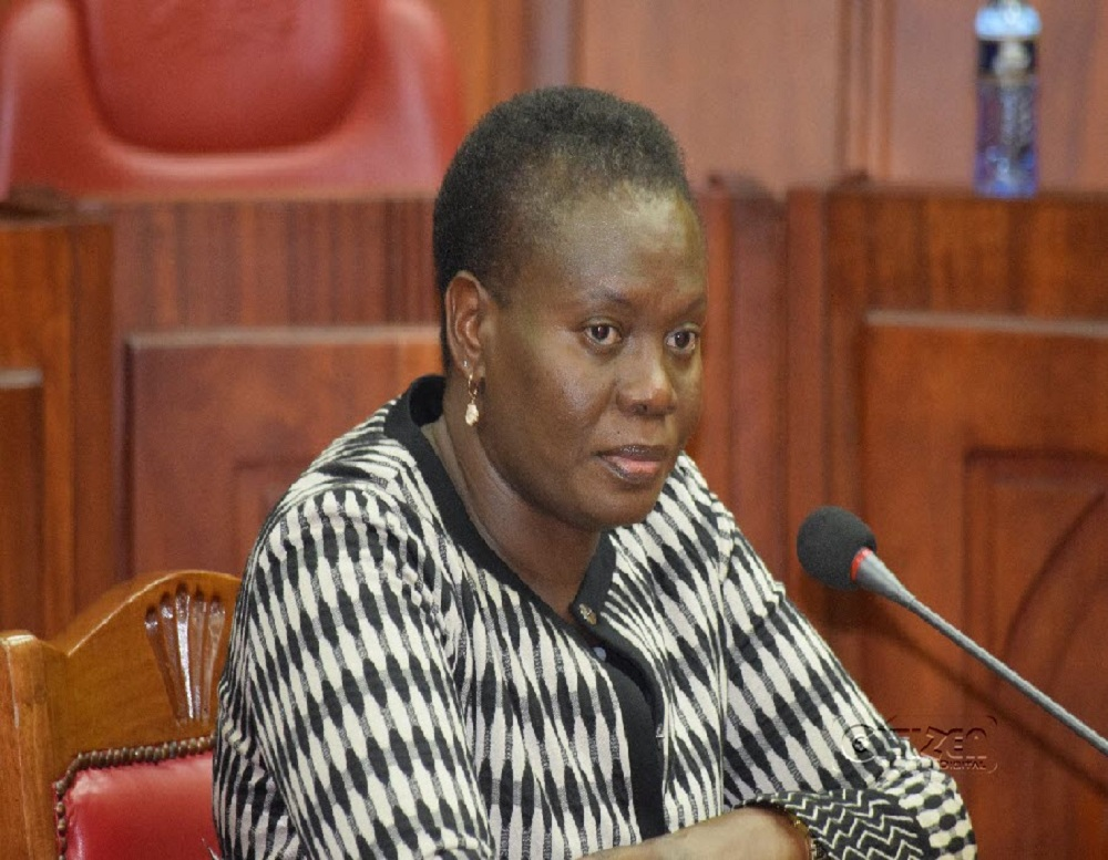 Lands Cabinet Secretary Farida Karoney. She announced the start of the land title conversion process on January 12, 2021.