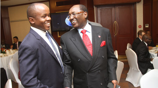 Chris-Kirubi-and-James-Mworia-Centum Life suddenly hard for CEO who earns Sh1 million per day