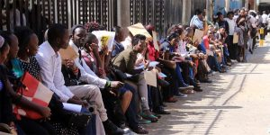 Kenyans queueing outside KRA waiting to file their tax returns. KRA has made filing taxes returns easier for Kenyans through the iTax portal where it only takes minutes. www.businesstoday.co.ke