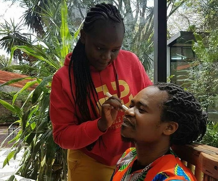 Mary-Omolo-make-up-artist-on-Jua-Cali Marketer finds her passion in make-up