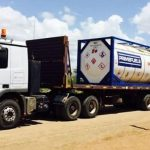 A truck being flagged off during the launch of the Early Oil Pilot Scheme. The project was later folded by Tullow Oil.