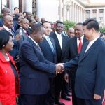 Dr Fred Matiang'i shakes hands with Chinese President Xi Jinping. On Thursday, Matiang'i signed deportation orders for Chinese nationals who assaulted a Kenyan employee at the Chez Wou Restaurant. www.businesstoday.co.ke