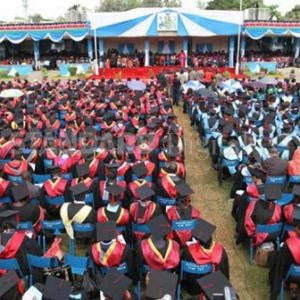 Students graduate at the University of Nairobi (UoN) during a past ceremony www.businesstoday.co.ke