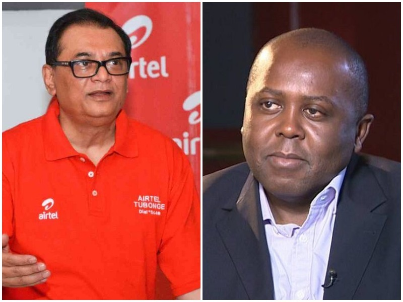 Airtel Kenya CEO Prasanta Das Sarma (left) and Telkom Kenya CEO Mugo Kibati. The Telkom Boss has blamed Safaricom for delaying its merging plan with Airtel Kenya. www.businesstoday.co.ke