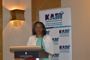 KAM CEO Phyllis Wakiaga. KAM has launched an online portal which is a directory of locally manufactured products. www.businesstoday.co.ke