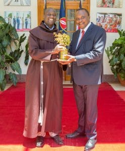 The World's Best Teacher Peter Tabichi with President Uhuru Kenyatta. Tabichi is the recipient of the 2019 Varkey Foundation Global Teacher Prize. www.businesstoday.co.ke