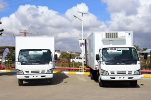 Isuzu cold chain logistics vehicles. A trader is making huge savings by utilising cold nights. www.businesstoday.co.ke