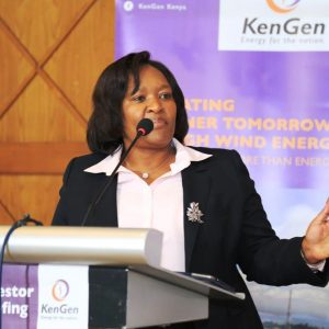 KenGen CEO Rebecca Miano speaking at a past event
