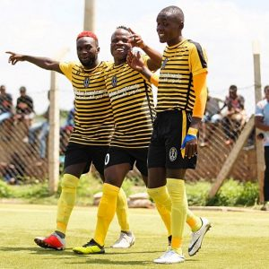 Wazito FC players celebrate after scoring a goal against Green Commandos at Camp Toyoyo during a National Super League last season. They won the match 6-0. www.businesstoday.co.ke