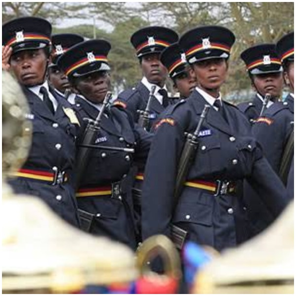 Police officers marching during a past parade. The National Police Service has announced a new recruitment exercise slated for February 2021.