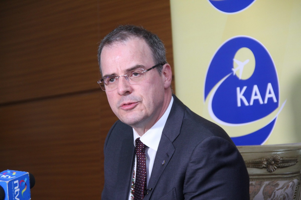Kenya Airports Authority CEO John Andersen. He has chosen to proceed on leave on September 30 after opting out of his contract www.businesstoday.co.ke