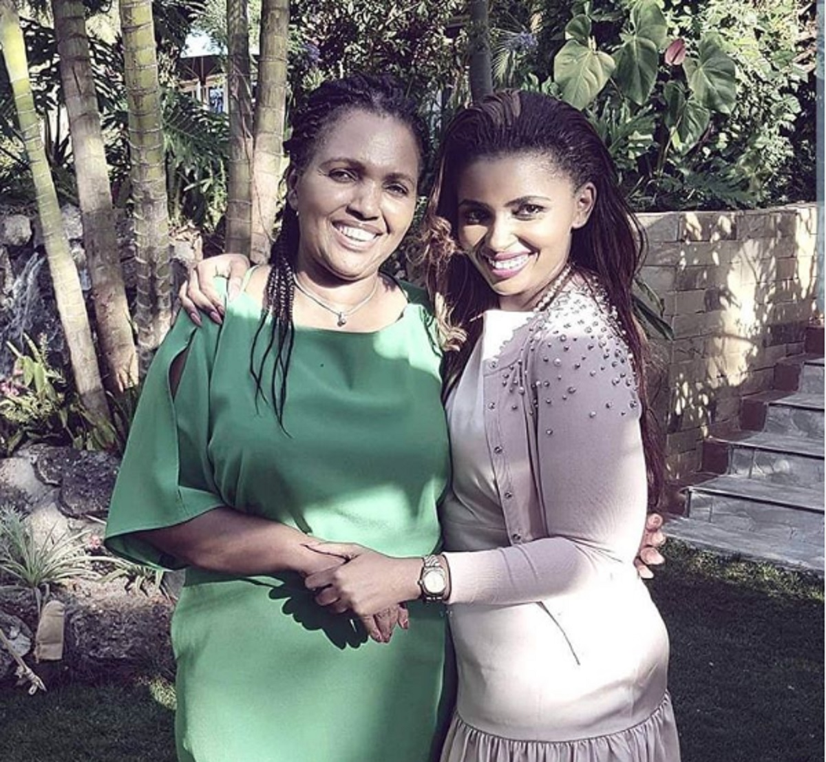 Keroche Breweries CEO Tabitha Karanja (left) and her daughter, Anerlisa Muigai. Anerlisa has taken to Instagram to defend her parents following tax evasion allegations. www.businesstoday.co.ke