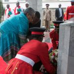 President Uhuru Kenyatta and the first lady Margret Kenyatta lay garland at the mausoleum of Mzee Jomo Kenyatta www.businesstoday.co.ke