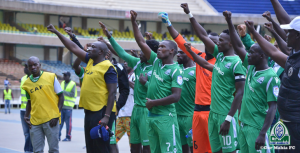Gor Mahia players and technical staff thank the fans who showed up for their Champions League qualifying clash against Aigle Noir at the Moi International Sports Centre Kasarani. Gor won the match 5-1. www.businesstoday.co.ke