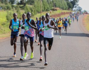 Athletes take part in a past Iren Road Race. The race categories are 10kms, 2kms fun race for seniors, and 2kms race for children www.businesstoday.co.ke