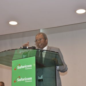 Safaricom board Chair Nicholas Ng'ang'a. The giant telco's shareholders approved a dividend pay out of Ksh74.9 billion. www.businesstoday.co.ke