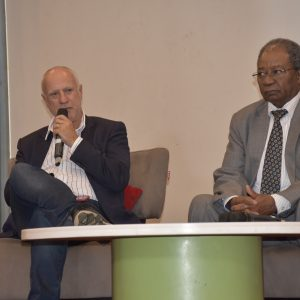 Safaricom Acting CEO Michael Joseph (left) and Chair Nicholas Ng'ang'a. www.businesstoday.co.ke