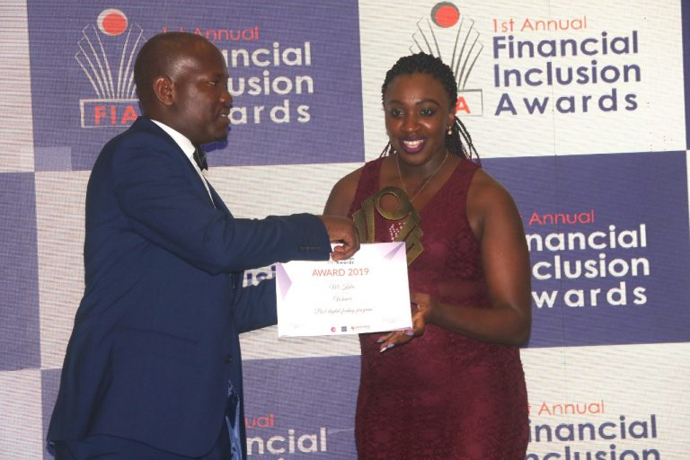 M-Kula app developers Apptivate Africa receive their award for Best Digital Feeding programme during the Financial Inclusion Awards (FINI Awards 2019). www.businesstoday.co.ke