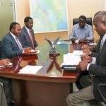Trade and Industry Cabinet Secretary Peter Munya and NASA leader Raila Odinga during the briefing on the setting up of a Special Economic Zone and revival of Kicomi on Thursday. [Photo/RAO's Communication and Information Unit/Facebook] www.businesstoday.co.ke