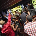 Revelers in a Nairobi bar. Interior Cabinet Secretary Fred Matiangi has directed that all bars should be closed by 5 pm on Saturday and Sunday for the census www.businesstoday.co.ke