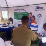 An Administration Police Officer receives medical asistance from a Doctor.Heart attack cases are increasing in the country. www.businesstoday.co.ke
