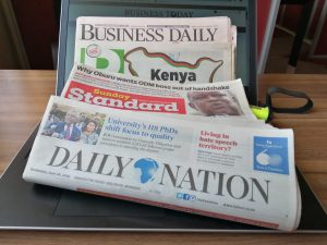 Kenyan newspapers - Daily Nation, Standard, Business Daily, Star and People Daily www.businesstoday.co.ke