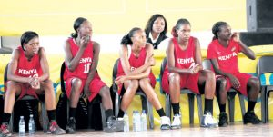 The Kenyan Women Basketball team following the proceedings of a previous match. The team has lamented of neglect from the government and poor conditions in Dakar, Senegal where they are representing the country in the AfroBasket women Championship. www.businesstoday.co.ke