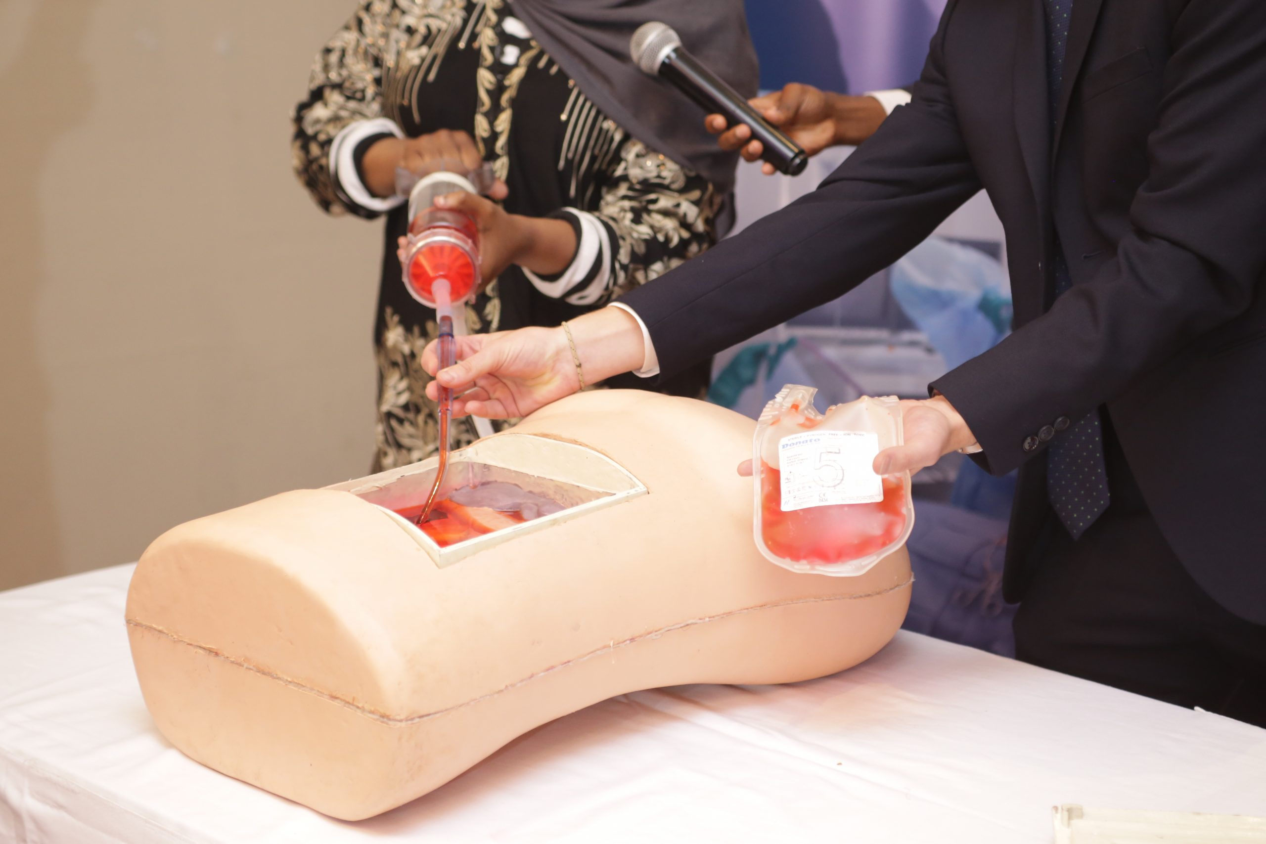 A demonstration of how Hemafuse works. Hemafuse is, an autotransfusion medical device that allows for blood to be retransfused into a patient who is undergoing surgery. www.businesstoday.co.ke