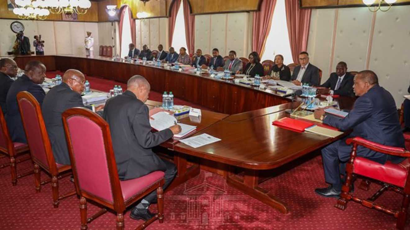 President Uhuru Kenyatta chairs a past Cabinet meeting at State House Nairobi. www.businesstoday.co.ke