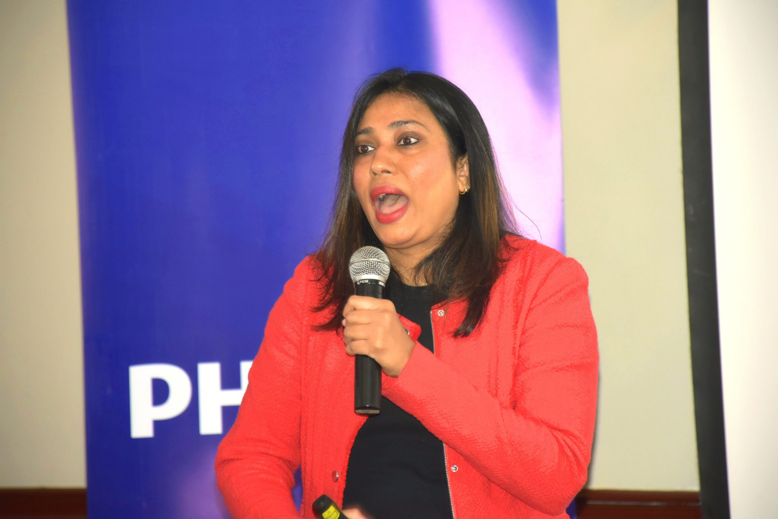 Radhika Choksey, Head of Brand, Communications and Digital Philips Africa addressing journalists in Nairobi www.businesstoday.co.ke