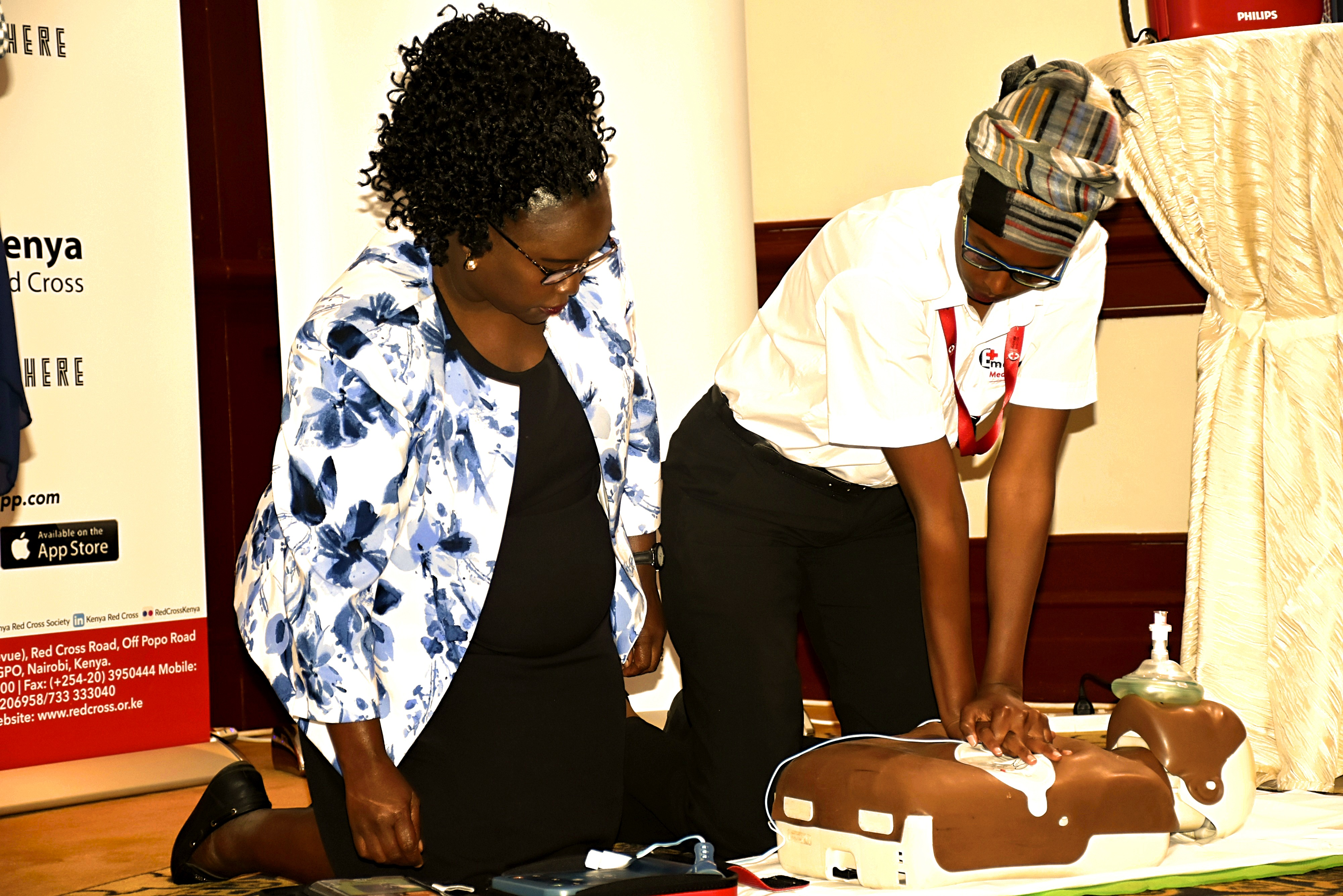 Red Cross Trainees showing how to do Cardiopulmonary resuscitation (CPR) www.businesstoday.co.ke