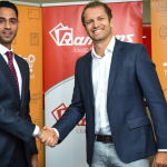 Jumia Managing Director Sam Chappatte with Ramtons Director Ronak Popat at the Jumia Mall launch. www.businesstoday.co.ke