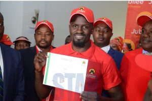 Jubilee Party candidate for Kibra By-elections, Mc Donald Mariga. He has been cleared to run for the seat. www.businesstoday.co.ke