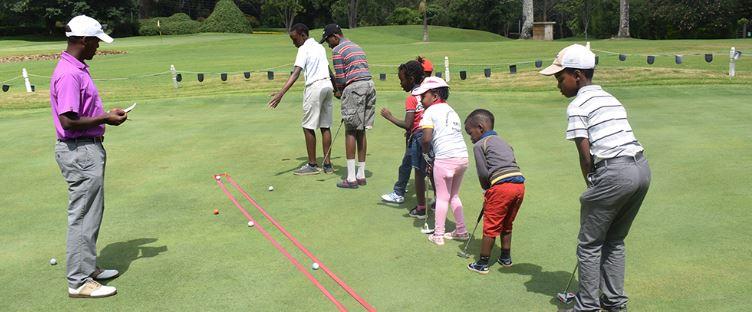 Muthaiga Primary School Pupils enjoying free golf training at the Muthaiga golf club. www.businesstoday.co.ke