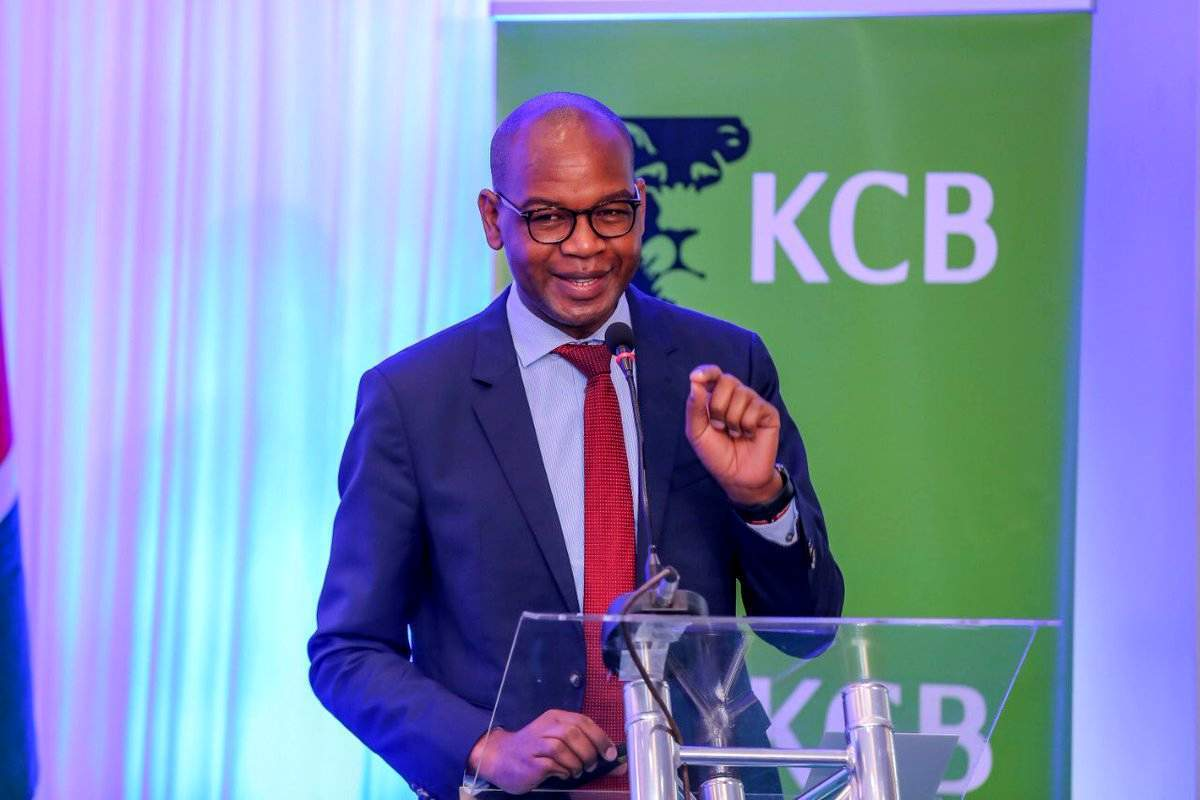 KCB Group CEO and MD Joshua Oigara. The lender has posted a Ksh10.9 billion profit after tax for the nine months ended September 30, 2020.