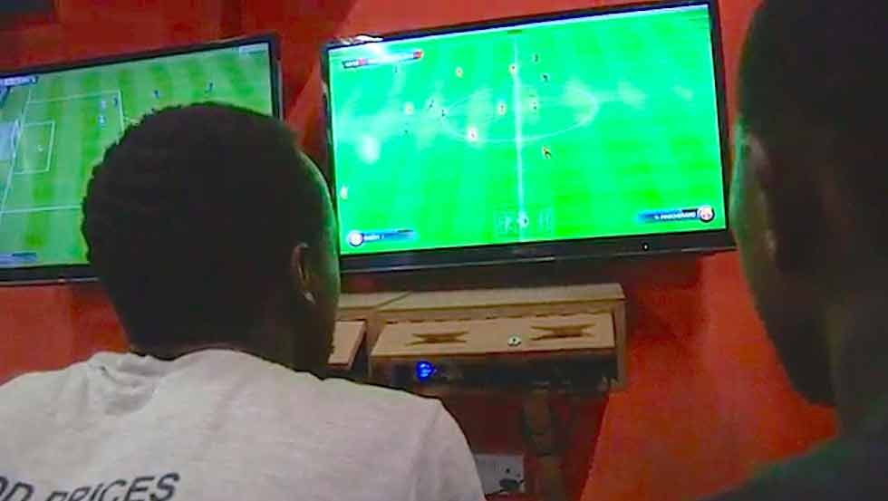 Young people enjoying a game of FIFA. FIFA 20 Demo is already out. www.businesstoday.com