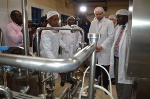 Poland Deputy Foreign Affairs Minister Marcin Przydacz and Kiambu Deputy Governor James Nyoro during a visit to Ndumberi Dairy Cooperative Society, www.businesstoday.co.ke