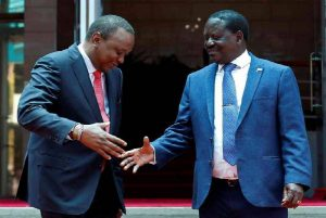 President Uhuru Kenyatta and former Prime Minister Raila Odinga. The two most critical question many Kenyans have been asking is, what President Kenyatta shall pass on to the next generation and also what Kenyans shall remember him for when he exits the corridors of power in 2022. www.businesstoday.co.ke
