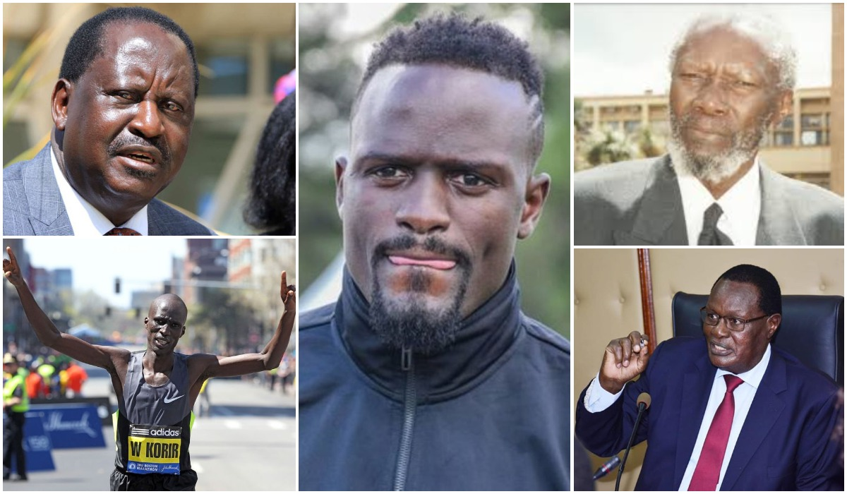Clockwise: ODM leader Raila Odinga, former Harambee Stars midfielder McDonald Mariga, former assistant minister Joab Omino, Roads Chief Administrative Secretary Chris Obure and Athletics star Wesley Korir. Mariga will not be the first football star to have ventured into politics. www.businesstoday.co.ke
